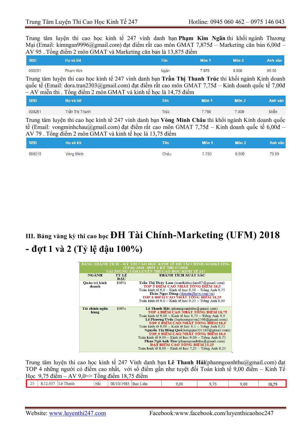 THONG TIN TUYEN SINH CAC TRUONG 202015