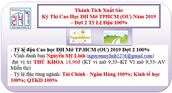 thanh tich luyen thi cao hoc dai hoc mở tphcm fb 2019 d2